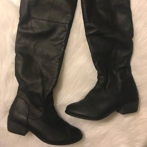 EUC Rampage Black Tommy Knee High Boots Sz 8